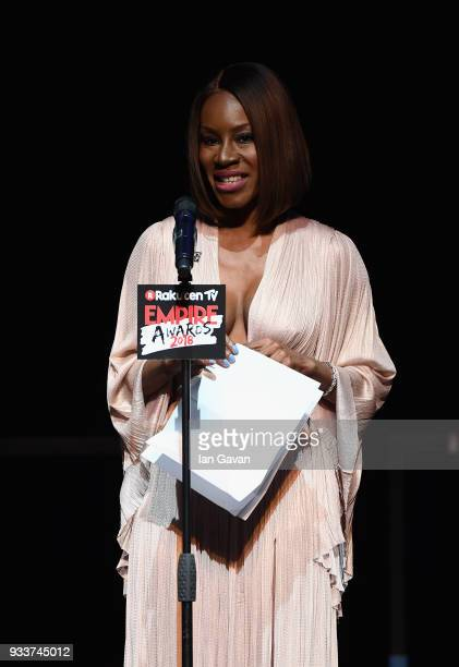 Screenwriter Amma Asante winner of the EMPIRE Inspiration award on stage during the Rakuten TV EMPIRE Awards 2018 at The Roundhouse on March 18 2018...