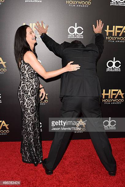 Screenwriter Amy Reinhold and actor Judge Reinhold attend the 19th Annual Hollywood Film Awards at The Beverly Hilton Hotel on November 1 2015 in...