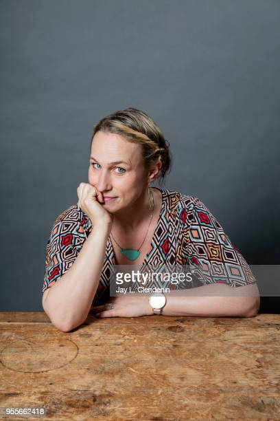 Screenwriter and author Pamela Ribon is photographed for Los Angeles Times on April 21 2018 in the LA Times Studio at the Los Angeles Times Festival...