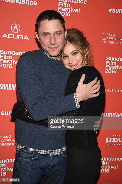 Screenwriter and director Matthew Ross and actress Imogen Poots attends the 'Frank Lola' premiere during the 2016 Sundance Film Festival at Eccles...