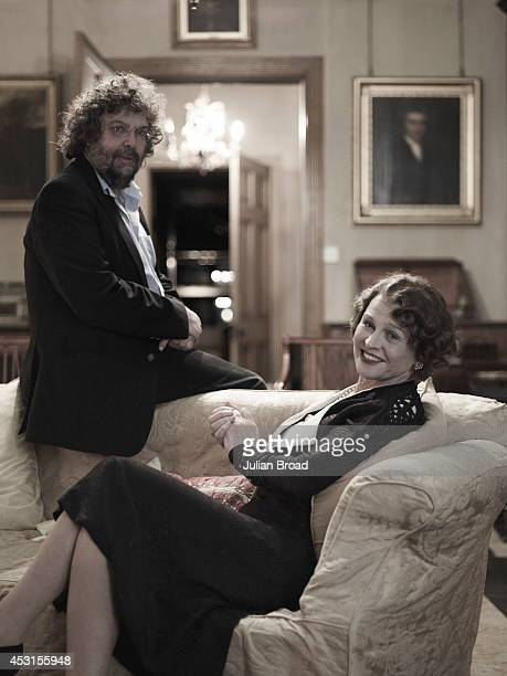 Screenwriter and director Stephen Poliakoff with actor Julie Christie on set of Glorious 39 photographed for Tatler magazine on November 14 2008 in...