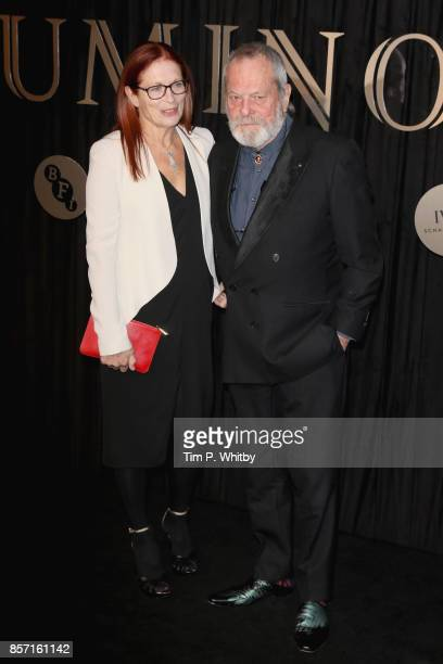 Screenwriter and director Terry Gilliam and his wife Maggie Weston attend the BFI Luminous Fundraising Gala at The Guildhall on October 3 2017 in...