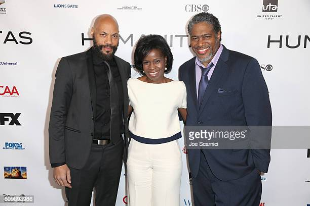 Screenwriter and finalist Kieser Prize John Ridley screenwriter Misan Sagay and President of the Humanitas Awards Ali LeRoi attend the 41st Humanitas...