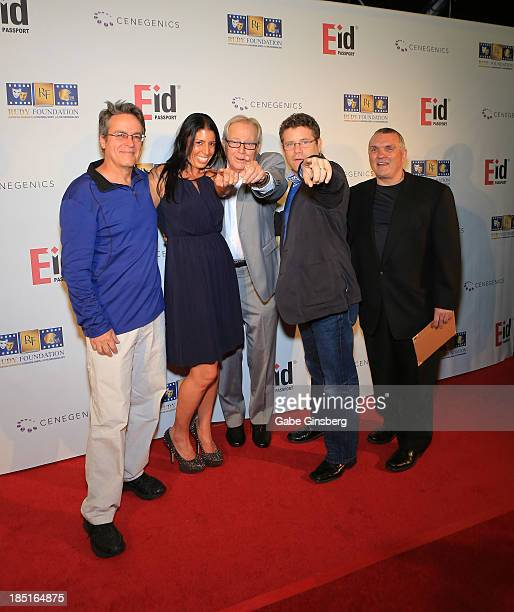 Screenwriter and producer Angelo Pizzo director of the Rudy Foundation Cheryl Ruettiger music editor Kenneth Hall actor Sean Astin and former...