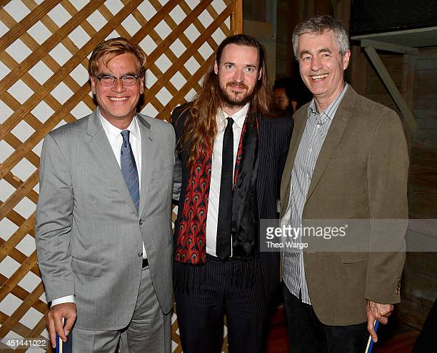 Screenwriter and recipient of the Screenwriters Tribute award Aaron Sorkin director and recipient of New Voices in Screenwriting award Mike Cahill...