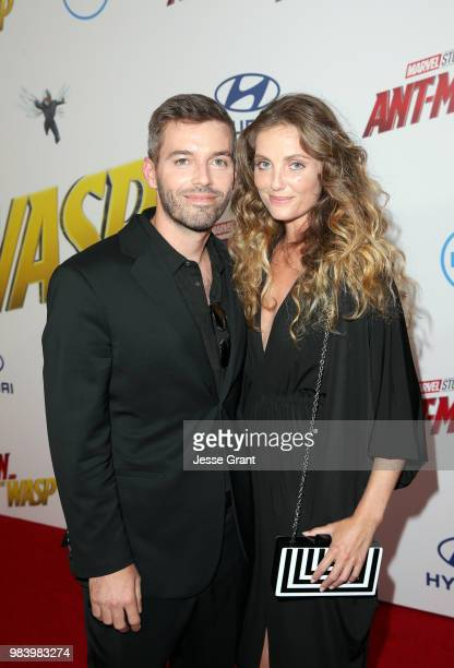 Screenwriter Andrew Barrer and Nancy Thompson attend the Los Angeles Global Premiere for Marvel Studios' 'AntMan And The Wasp' at the El Capitan...