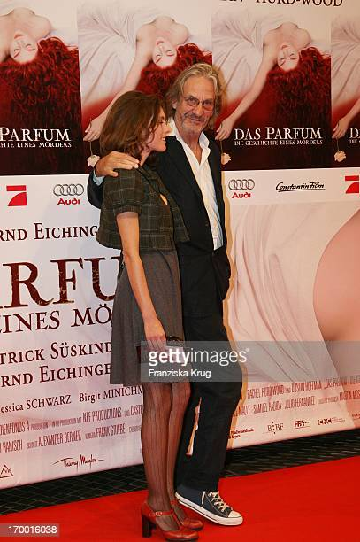 Screenwriter Andrew Birkin And Wife At The Premiere Of 'The Perfume' in Cinestar in Berlin