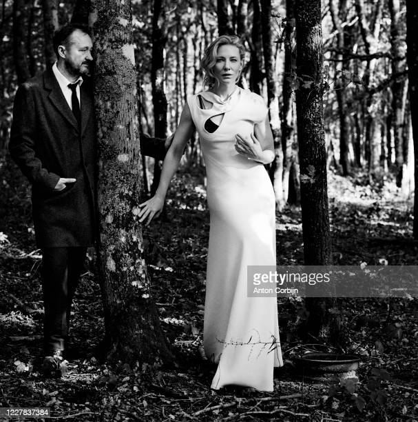 Screenwriter Andrew Upton and actress Cate Blanchett pose for a portrait on September 28 2016 in Crowborough England