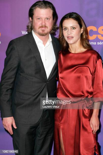 "Screenwriter Beau Willimon and Actress Hannah Ware attend ""OCS 10th Anniversary"" at Pavillon d'Armenonville on December 13, 2018 in Paris, France."