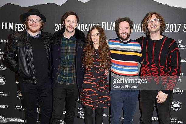 Screenwriter Ben York Jones actors Nicholas Hoult and Laia Costa director Drake Doremus and actor Matthew Gray Gubler attend the 'Newness' Premiere...