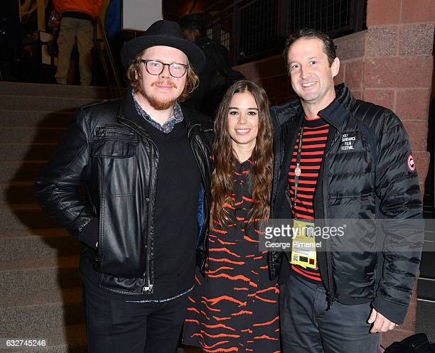 Screenwriter Ben York Jones Actress Laia Costa and Sundance Film Festival Director of Programming Trevor Groth attend the 'Newness' Premiere on day 7...