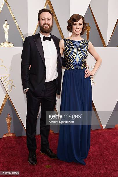 Screenwriter Benjamin Cleary and actress Chloe Pirrie attend the 88th Annual Academy Awards at Hollywood Highland Center on February 28 2016 in...