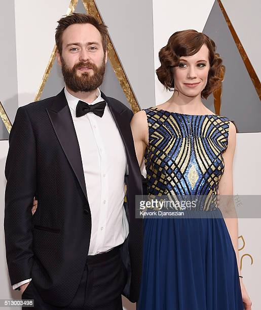 Screenwriter Benjamin Cleary and actress Chloe Pirrie attend the 88th Annual Academy Awards at Hollywood & Highland Center on February 28, 2016 in...