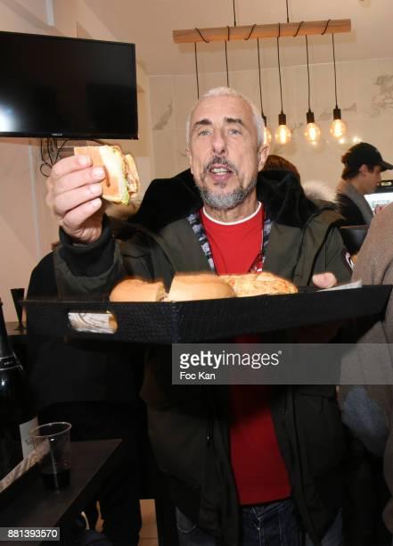 Screenwriter Bibi Naceri attends 'Bagel N Fries' Restaurant Opening Party on November 28 2017 in Paris France