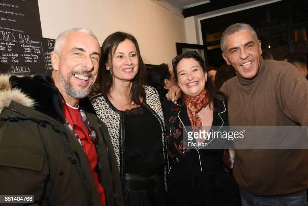 Screenwriter Bibi Naceri Claire Massardier Esther Meyniel and actor Samy Naceri attend 'Bagel N Fries' Restaurant Opening Party on November 28 2017...