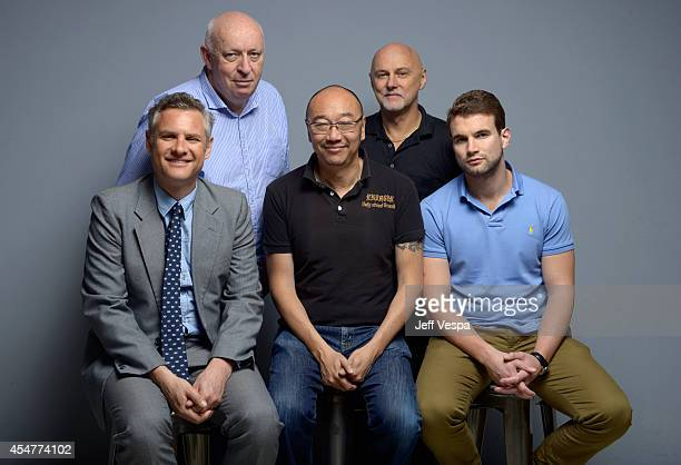 Screenwriter Blake Ayshford producer Trevor Blainey director Tony Ayres prodcuer Michael McMahon and actor Alex Russell of 'Cut Snake' pose for a...