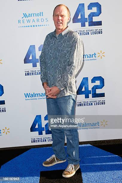 Screenwriter Brian Helgeland attends the premiere of Warner Bros Pictures' And Legendary Pictures' '42' at TCL Chinese Theatre on April 9 2013 in...