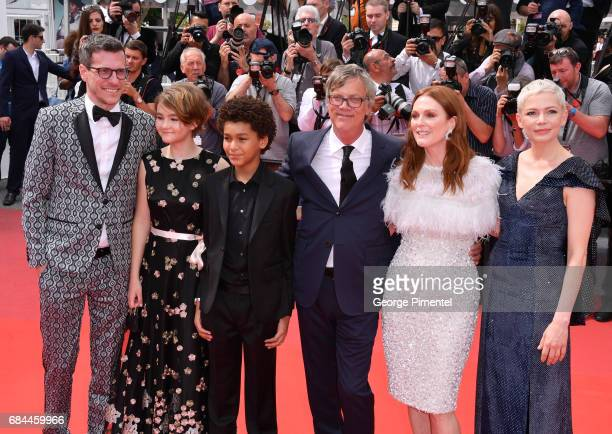 Screenwriter Brian Selznick actress Millicent Simmonds actor Jaden Michael director Todd Haynes and actress Julianne Moore and Michelle Williams...