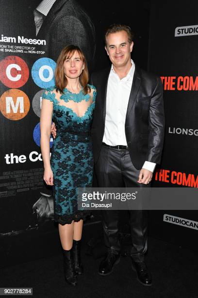 Screenwriter Byron Willinger and guest attend 'The Commuter' New York premiere at AMC Loews Lincoln Square on January 8 2018 in New York City