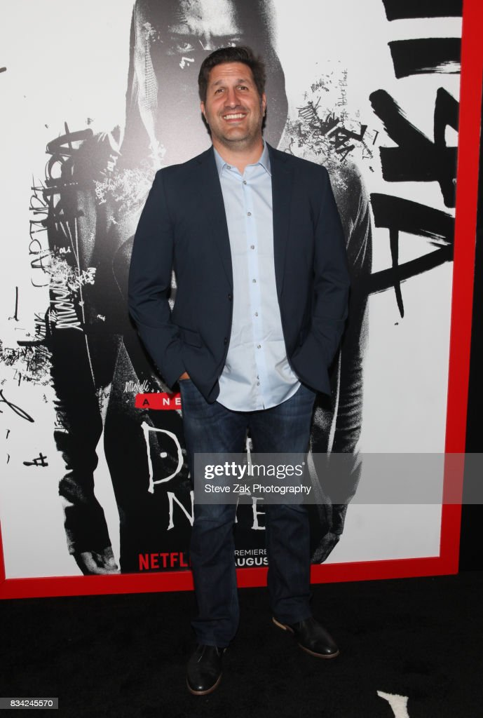 Screenwriter Charley Parlapanides attends the 'Death Note' New York premiere at AMC Loews Lincoln Square 13 theater on August 17, 2017 in New York City.