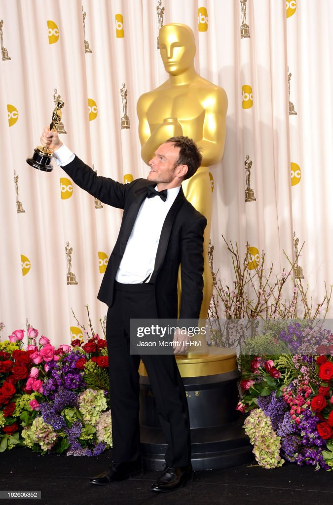 Screenwriter Chris Terrio, winner of the Best Adapted Screenplay award for 'Argo,' poses in the press room during the Oscars held at Loews Hollywood Hotel on February 24, 2013 in Hollywood, California.