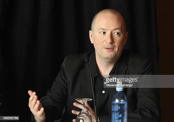 Screenwriter Christopher Markus attends the press conference of the Miami Premiere of Pain Gain at Mandarin Oriental on April 11 2013 in Miami Florida