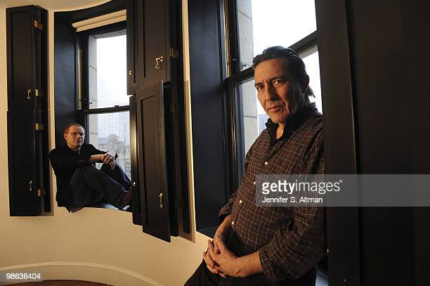 Screenwriter Conor McPherson and Actor Ciaran Hinds pose at a portrait session for the Los Angeles Times in New York NY on February 25 2010 PUBLISHED...