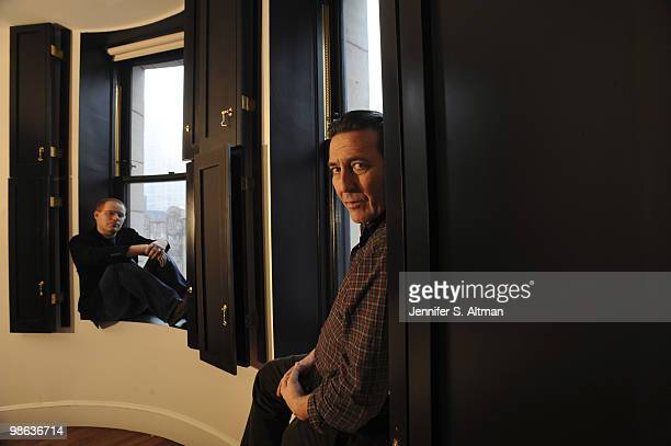 Screenwriter Conor McPherson and Actor Ciaran Hinds pose at a portrait session for the Los Angeles Times in New York NY on February 25 2010