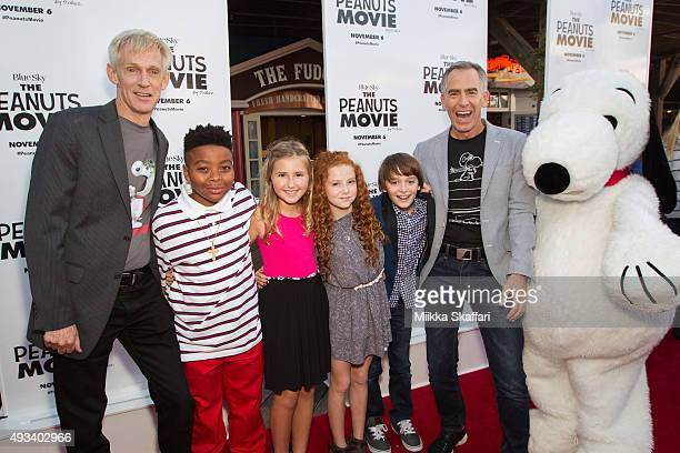Screenwriter Craig Schulz actor Mar Mar actress Hadley Belle Miller actress Francesca Capaldi actor Noah Schnapp and director Steve Martino arrive at...
