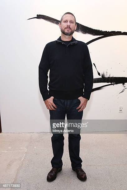 "Screenwriter David Ayer attends AOL's BUILD Series Presents: Actors Logan Lerman And Jon Bernthal With Director David Aye -""Fury"" at AOL Studios In..."