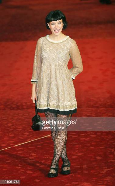 Screenwriter Diablo Cody on the red carpet of Auditorium for the film Juno at Cinema Fest of Rome Diablo Cody wears Marc Jacobs's dress