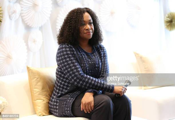Screenwriter director and producer Shonda Rhimes participates in a panel discussion as Dove Real Beauty Productions and Shonda Rhimes host Dove...