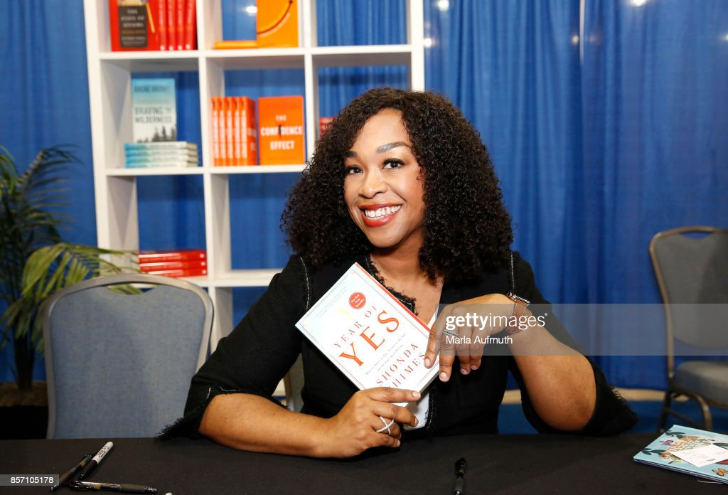 Screenwriter, director and producer Shonda Rhimes signs her book, 'Year of Yes' during Pennsylvania Conference For Women 2017 at Pennsylvania Convention Center on October 3, 2017 in Philadelphia, Pennsylvania.