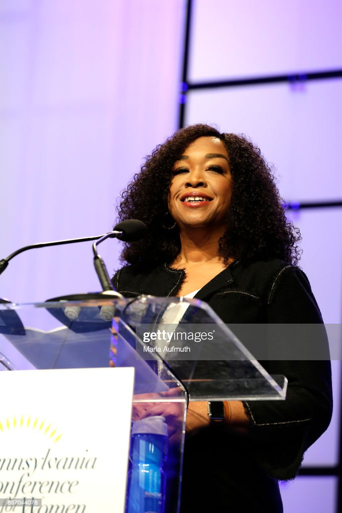 Screenwriter, director and producer Shonda Rhimes speaks during Pennsylvania Conference For Women 2017 at Pennsylvania Convention Center on October 3, 2017 in Philadelphia, Pennsylvania.