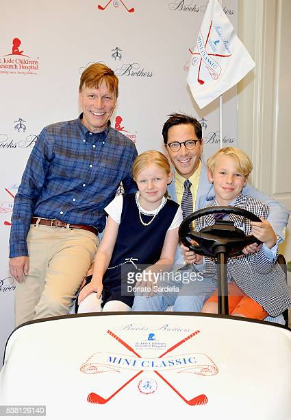 Screenwriter Don Roos Eliza Bucatinsky actor Dan Bucatinsky and Jonah Bucatinsky attend Brooks Brothers Mini Classic to Benefit St Jude Children's...