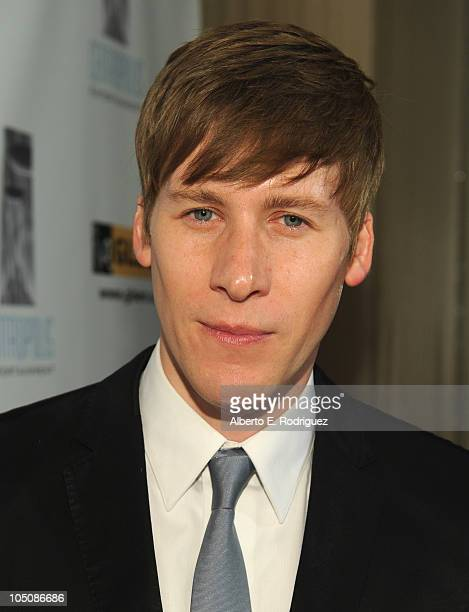 Screenwriter Dustin Lance Black arrives to the 6th Annual GLSEN Respect Awards at the Beverly Hills Hotel on October 8 2010 in Beverly Hills...