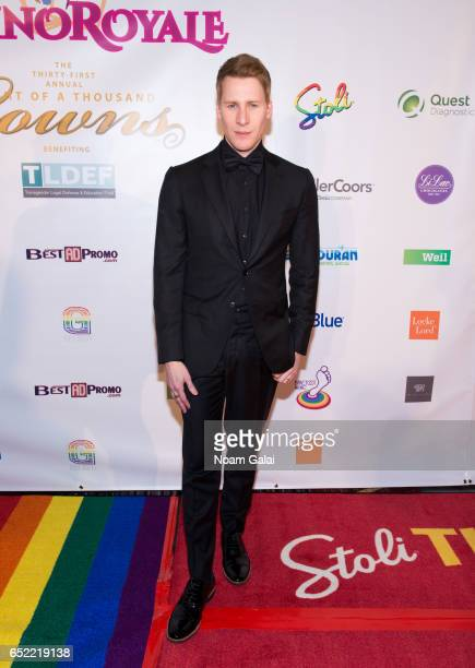 Screenwriter Dustin Lance Black attends the 2017 Imperial Court of New York Night of a Thousand Gowns at Marriott Marquis Hotel on March 11 2017 in...