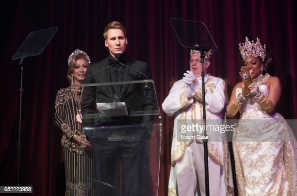 Screenwriter Dustin Lance Black recieves the ICNY Diamond Award during the 2017 Imperial Court of New York Night of a Thousand Gowns at Marriott...