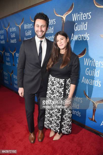 Screenwriter Eli Bauman and guest attend the 2017 Writers Guild Awards LA Ceremony at The Beverly Hilton Hotel on February 19 2017 in Beverly Hills...