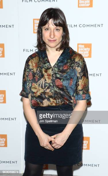 Screenwriter Eliza Hittman attends the 2018 Film Society of Lincoln Center and Film Comment luncheon at Lincoln Ristorante on January 9 2018 in New...