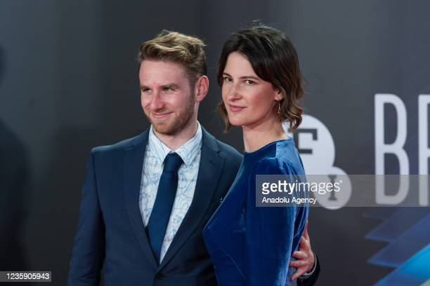 Screenwriter Francesca Gardiner attends the European premiere of season 3 of 'Succession' television series at the Royal Festival Hall during the...