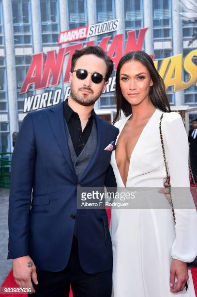 Screenwriter Gabriel Ferrari and guest attend the Los Angeles Global Premiere for Marvel Studios' AntMan And The Wasp at the El Capitan Theatre on...