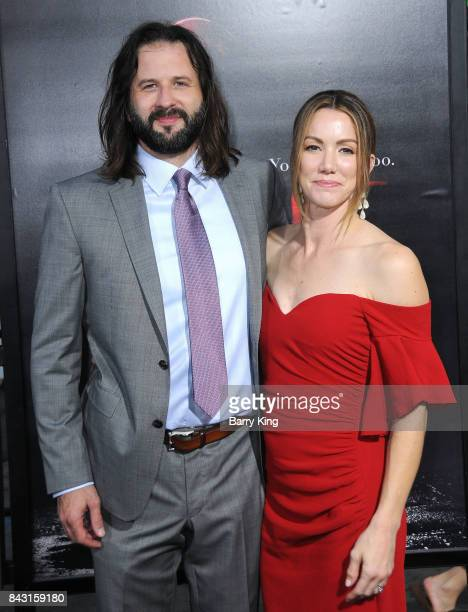 Screenwriter Gary Dauberman and Sara Dauberman attend the premiere of Warner Bros Pictures and New Line Cinemas' 'It' at TCL Chinese Theatre on...