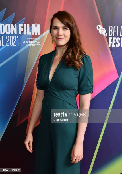 """Screenwriter Gemma Hurley attends the """"Dashcam"""" UK Premiere during the 65th BFI London Film Festival at the Odeon Luxe West End on October 14, 2021..."""