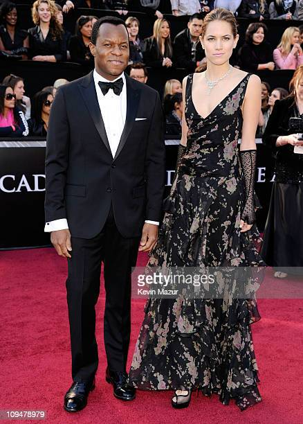 Screenwriter Geoffrey Fletcher and actress Cody Horn arrive at the 83rd Annual Academy Awards held at the Kodak Theatre on February 27 2011 in...
