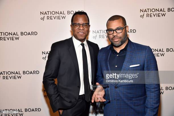 Screenwriter Geoffrey Fletcher and Best Directorial Debut winner Jordan Peele attend the The National Board Of Review Annual Awards Gala at Cipriani...