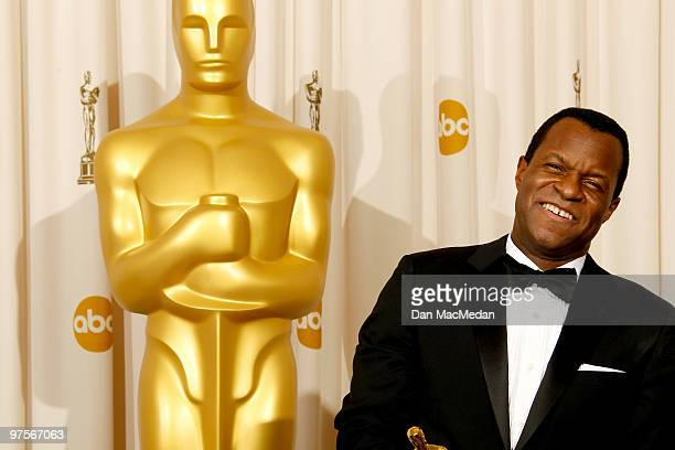 Screenwriter Geoffrey Fletcher winner Best Adapted Screenplay Award for 'Precious' poses in the press room at the 82nd Annual Academy Awards held at...