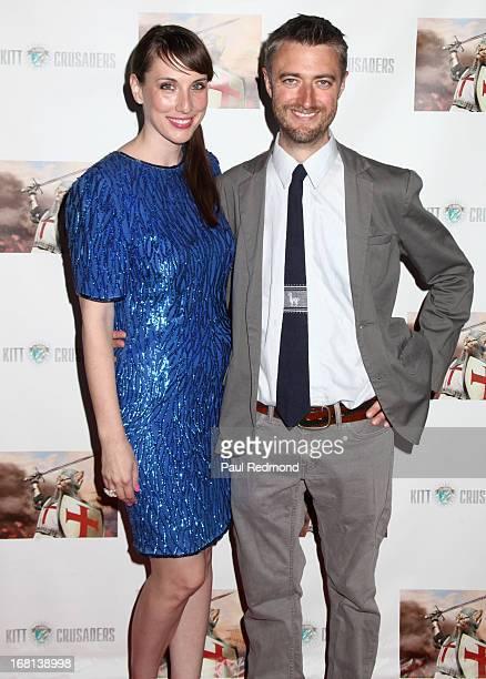 Screenwriter Gina Glover and actor Sean Gunn attend the Cinco De Gato charity event at La Descarga on May 5 2013 in Hollywood California