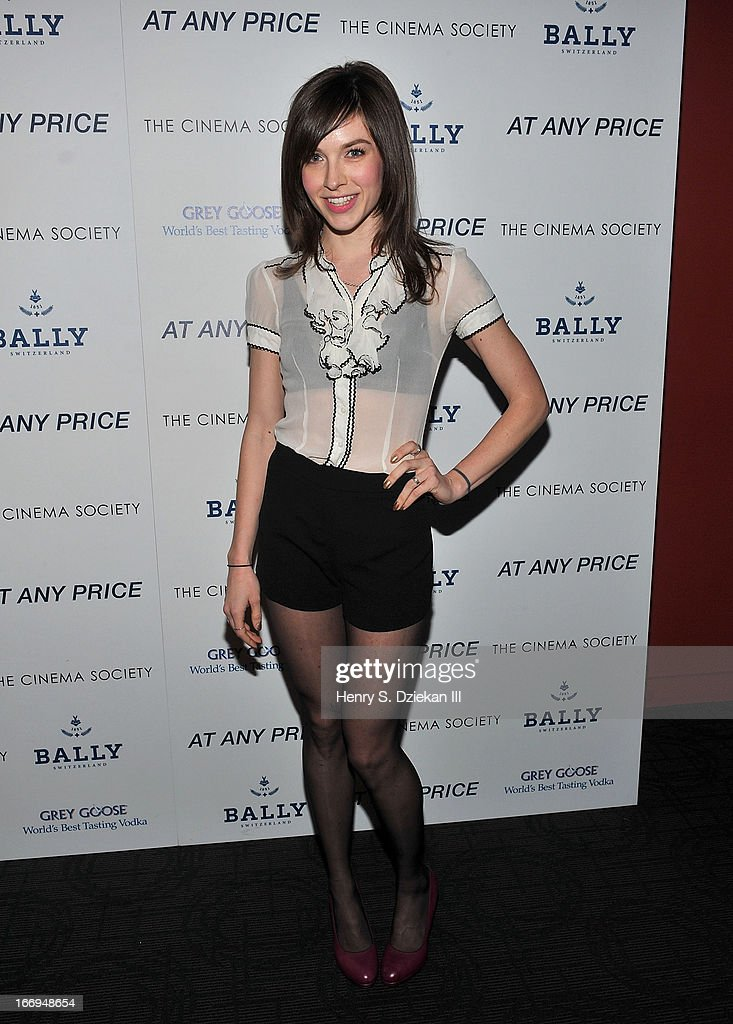 Screenwriter Hallie Newton attends the Cinema Society & Bally screening of Sony Pictures Classics' 'At Any Price' at Landmark's Sunshine Cinema on April 18, 2013 in New York City.