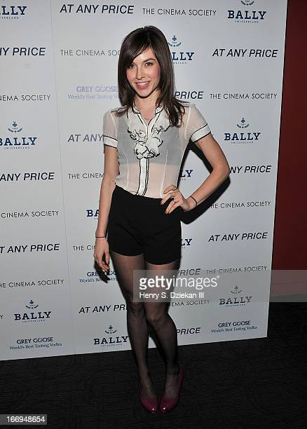 Screenwriter Hallie Newton attends the Cinema Society Bally screening of Sony Pictures Classics' At Any Price at Landmark's Sunshine Cinema on April...